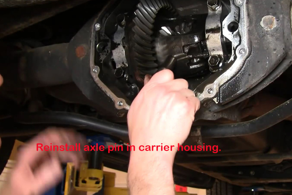 Reinstall-Axle-Pin