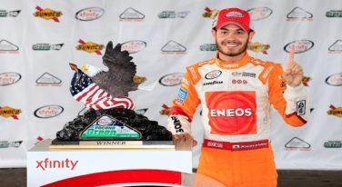 Larson Takes Win in Rain-Shortened Pocono Green 250