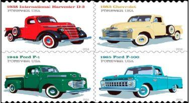 Vintage Trucks on Latest Stamp