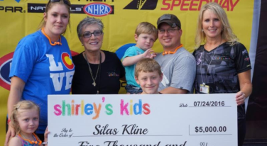 Shirley Muldowney has memorable return  to Denver with Shirley's Kids recipient