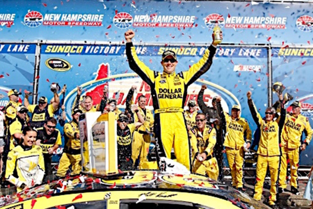 Matt Kenseth and his JGR number 20 team celebrate in Victory Lane after his victory at Loudon last weekend. All images courtesy MattKenseth.com