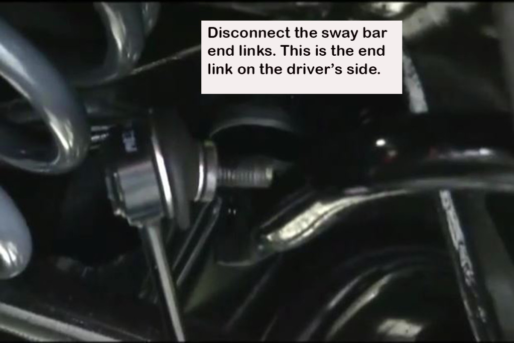On cars with independent rear suspensions, the end links will normally be on the lower control arms.