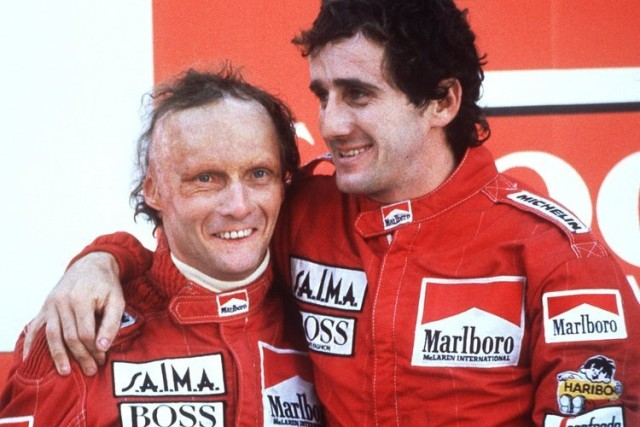 Master and pupil: Lauda taught Prost how to conserve energy and play for points, traits that would later defined the Frenchman's career.