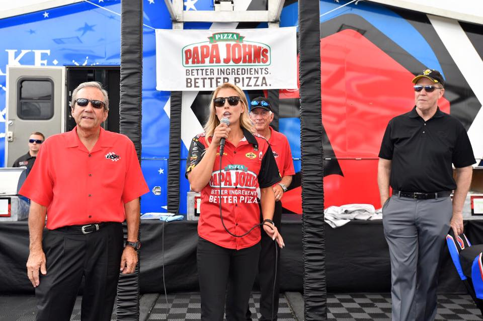 16PapaJohnsDonSchumacher Pritchett Peter Clifford NHRA President Photo Aug 5