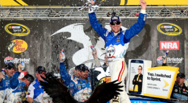 Harvick Survives, Winning Wild Bass Pro Shops NRA Night Race