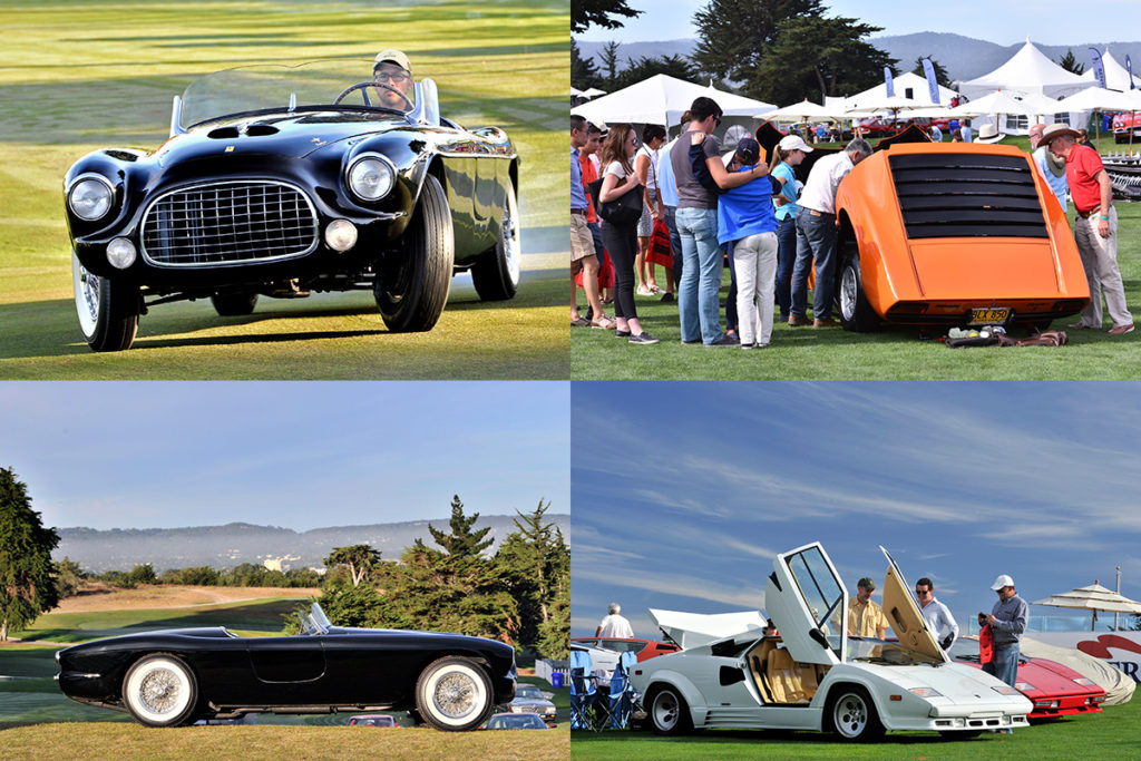 Just some of the cars registered for this year's Concorso Italiano. Images courtesy show website.
