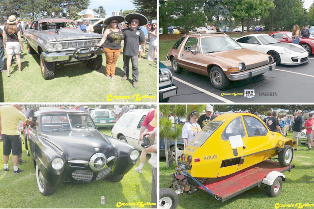 Some of the winners from Concours d'LeMons events from the past couple years. Images courtesy Concours d'LeMons website.