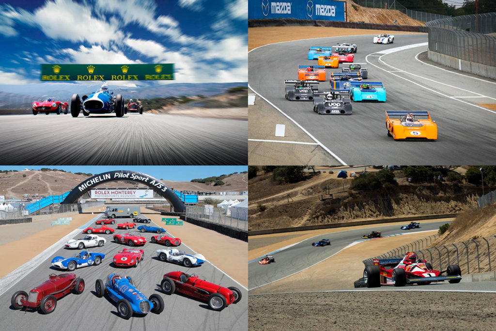 Just some of the exciting cars and action you'll see at the Rolex Motorsports Reunion.