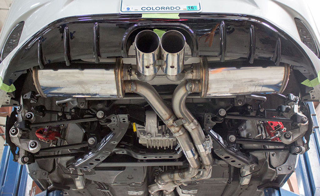 Take a gander at the 2015 Camaro independent rear suspension and the other custom goodies. Image courtesy Flyin' Miata.
