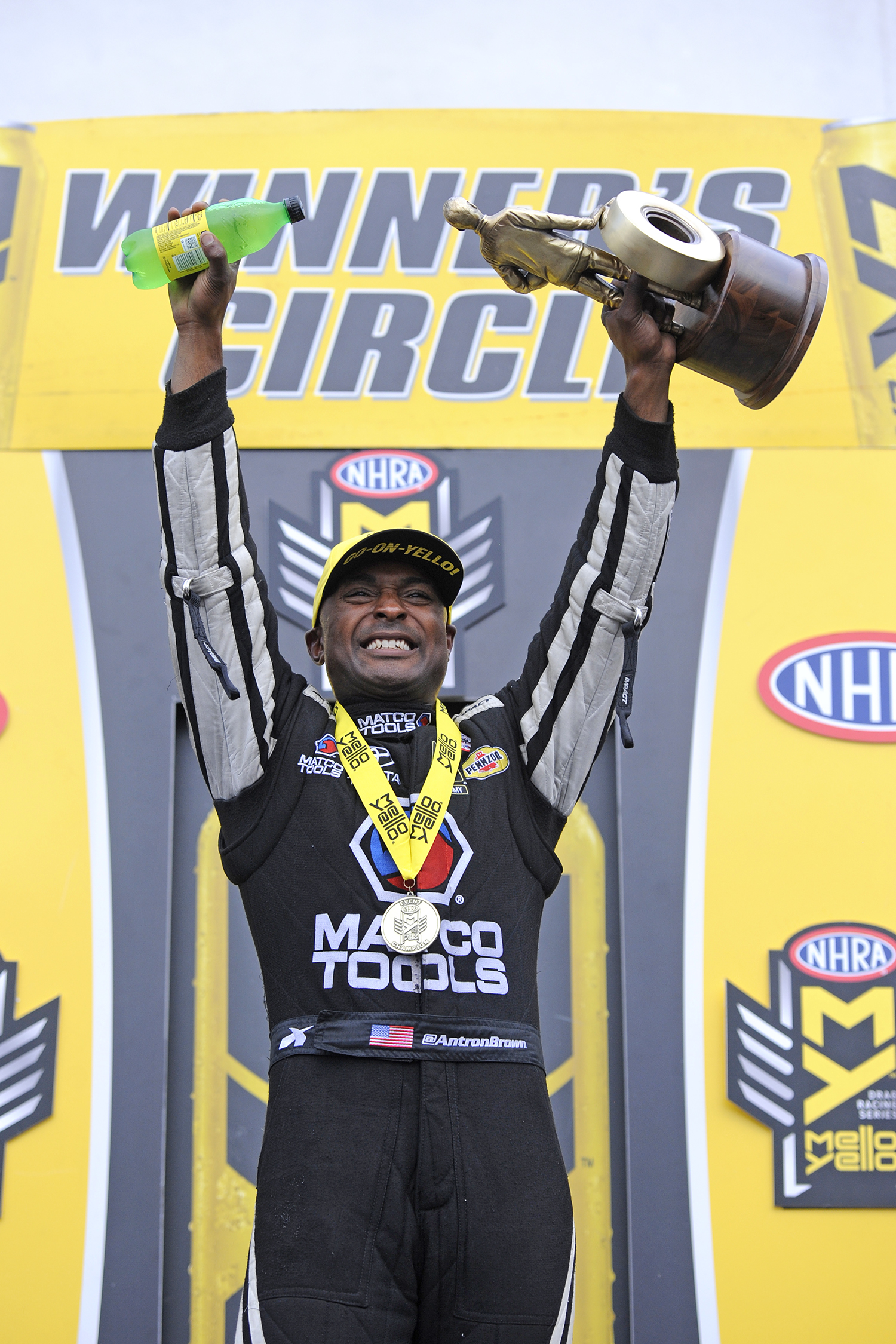 Brown, J. Force, Line and Ellis Take First Step to NHRA Championships at Charlotte
