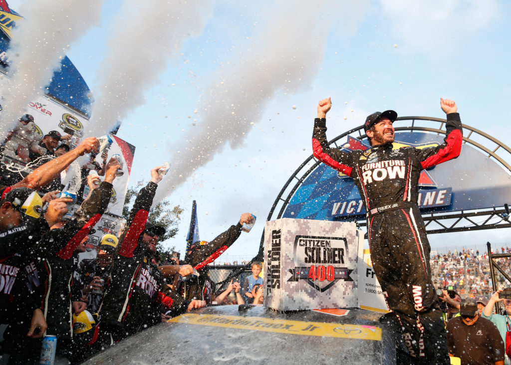 Truex, Suarez and Reddick Finish First as the NASCAR Series Continues