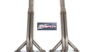 Flowtech's Upright Headers are perfect for boggers, truck pullers, and especially demolition derby competitors. The logo is pretty dang cool too. Image courtesy flowtech.com