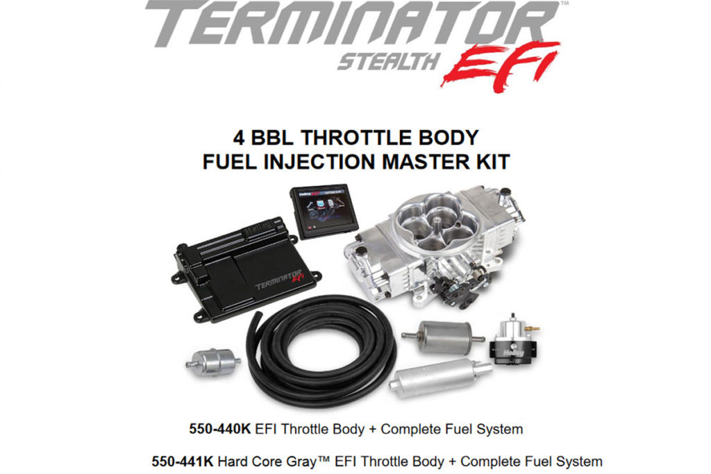 Old School Carb Looks with EFI Performance from Holley's Terminator Stealth