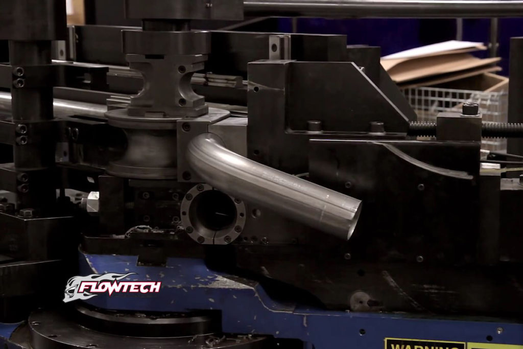 Mandrel bending ensures that the tubes are perfectly bent and there are no restrictions to the exhaust flow. Image courtesy flowtech.com.