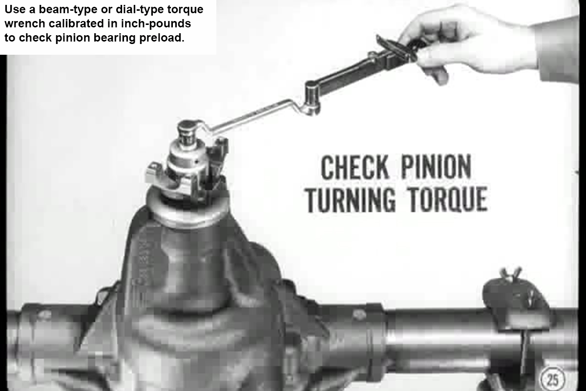 How to fix loose pinion bearing preload