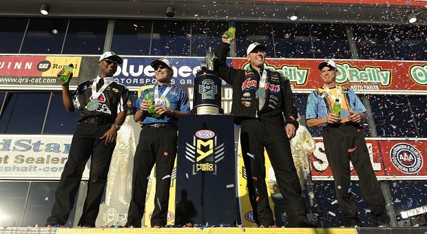 Antron Brown, Ron Capps, Jason Line and Jerry Savoie Take NHRA Mello Yello Championship Titles