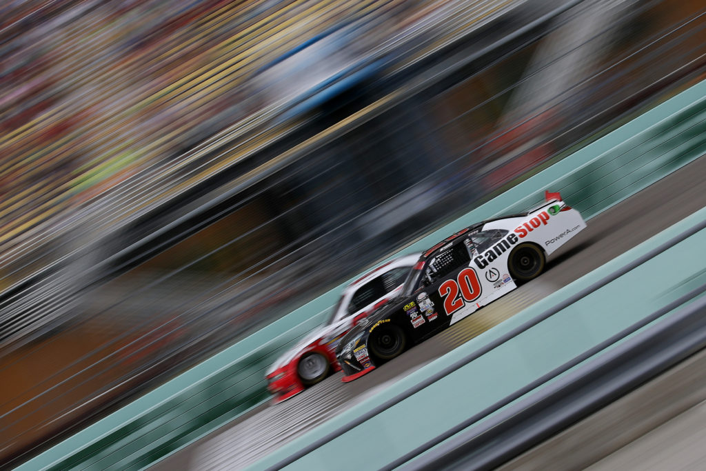 Erik Jones races.  (Photo by Sarah Crabill/Getty Images)