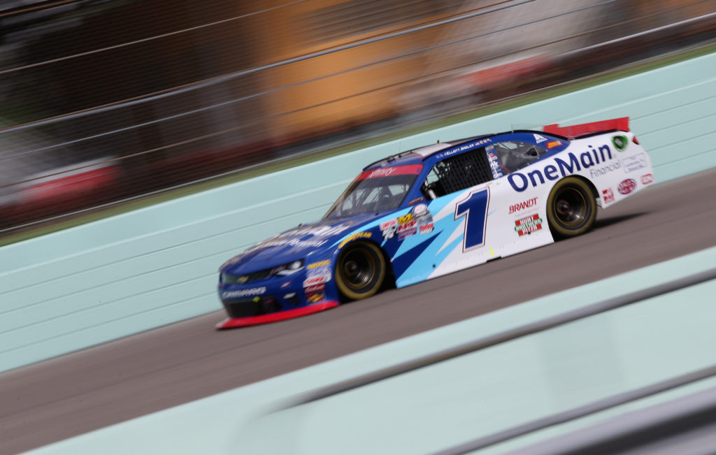 Elliott Sadler drives.  (Photo by Jerry Markland/Getty Images)