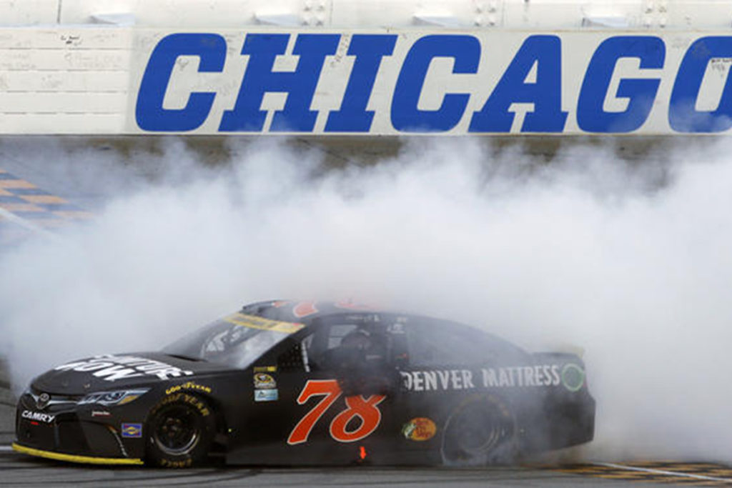 Martin Truex Jr. won the Chase opener at Chicagoland. His failure at the LIS twice after the race should have disqualified him from automatic advancement to the Round of 12. It didn't. Image courtesy chicagotribune.com.