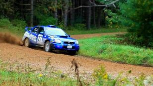 A little trail braking is always used on the rally stage to avoid accident.