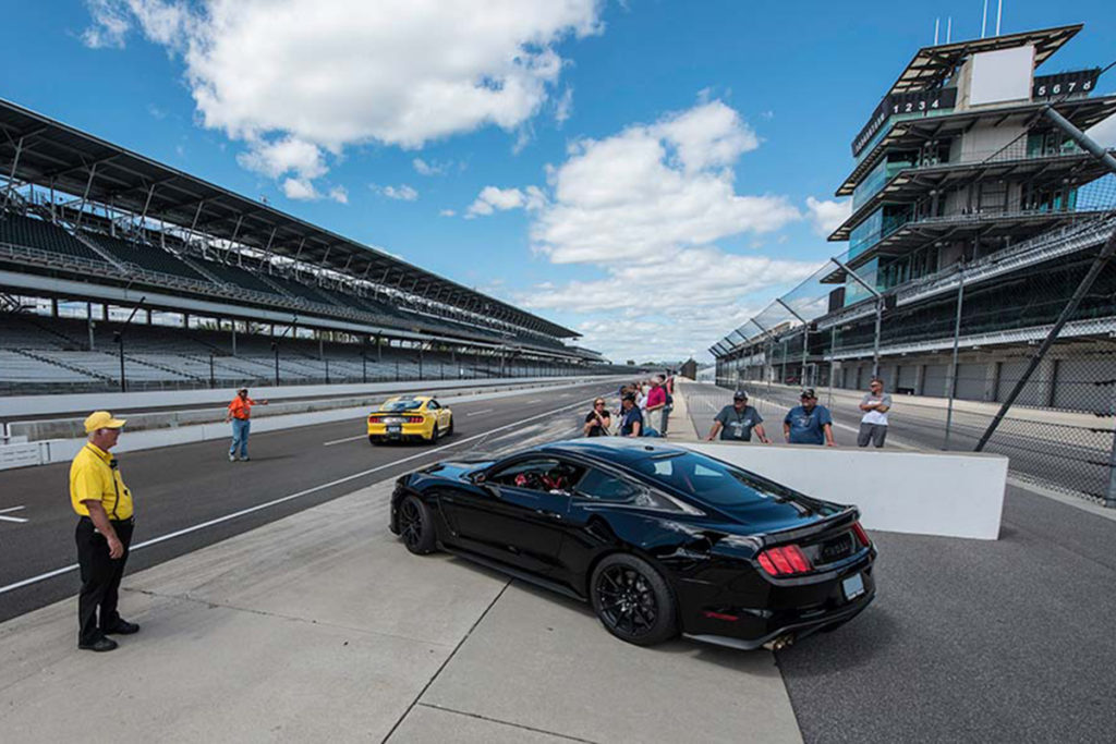 Some attendees were lucky enough to be able to take their cars on the track for a full out blast around the legendary speedway.