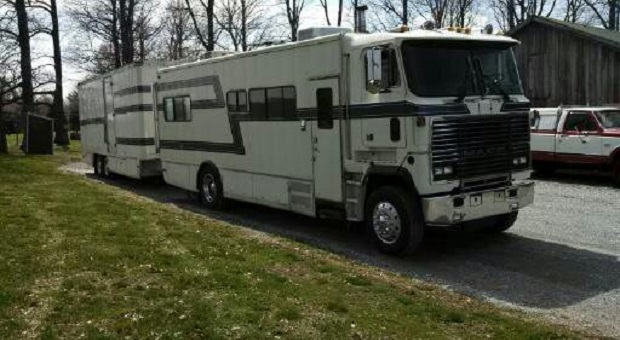 Today's Cool Car Find is this Motor Home Hauler