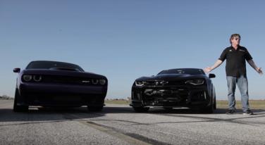 [Video] Hellcat Challenger vs Camaro ZL1