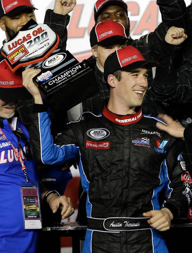 Austin Theriault Wins ARCA's Lucas Oil 200