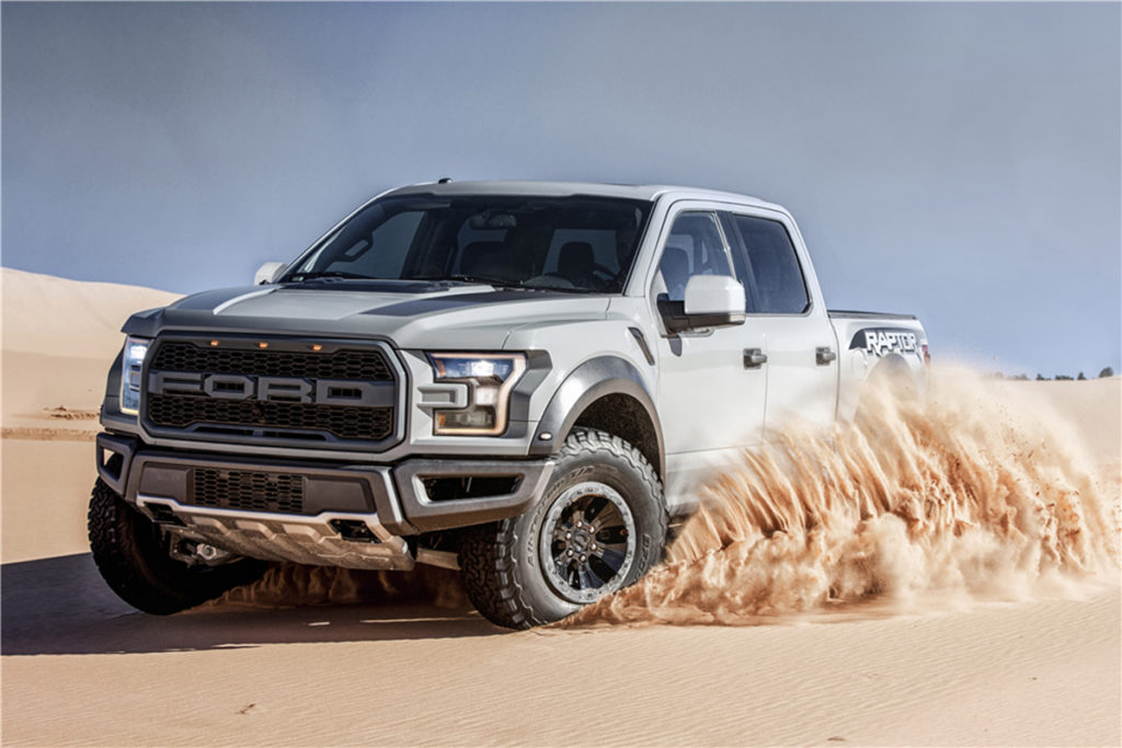 The Ford Raptor is probably the most off-road capable truck in production. Image courtesy barrett-jackson.com