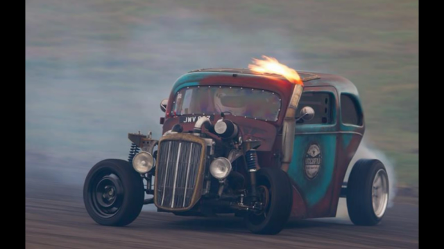 One Stunning, Turbocharged Ford Anglia Drifter