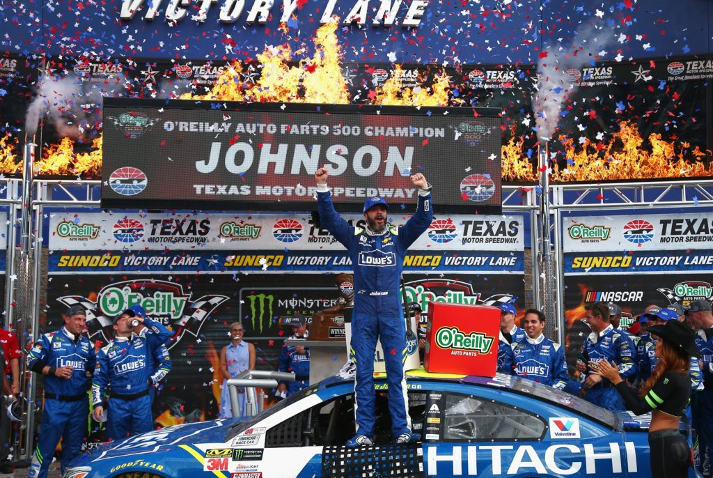 Jones and Johnson Pull Off NASCAR Wins at Texas Motor Speedway