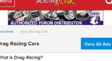 RacingJunk.com Now Features Larger Photos On Mobile Category Pages