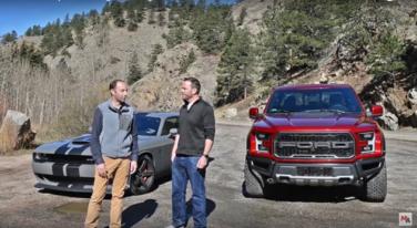 [Video] Dodge Challengar Hellcat vs Ford F-150 Raptor