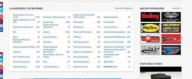 Desktop Homepage Categories