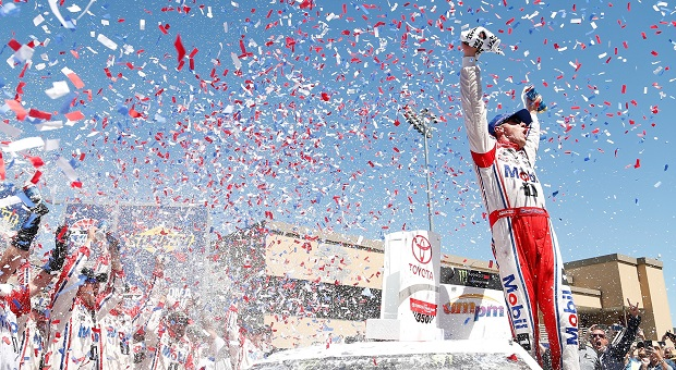 NASCAR's Harvick, Byron and Nemecheck Find Victory Lane