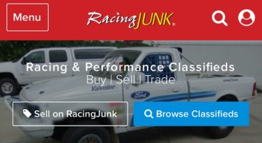 RacingJunk Mobile Site