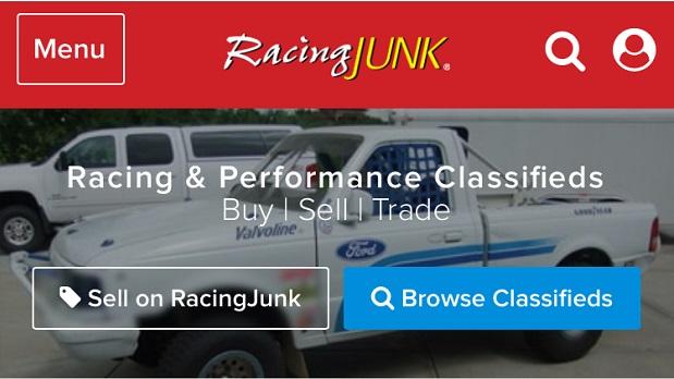 RacingJunk Mobile Site