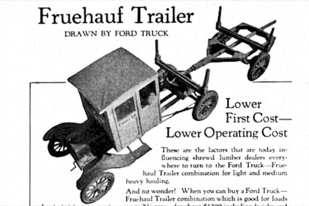 august fruehauf inducted into automobile hall of fame racingjunk rh racingjunk com Fruehauf Trailer Suspension Tech Fruehauf Trailer Parts