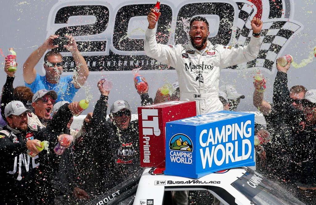 Repeat NASCAR Wins for Wallace Jr., Hornish Jr. and Larson at Michigan and Mid-Ohio