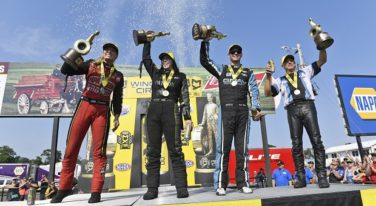 Pritchett and DeJoria Shine at Lucas Oil NHRA Nats