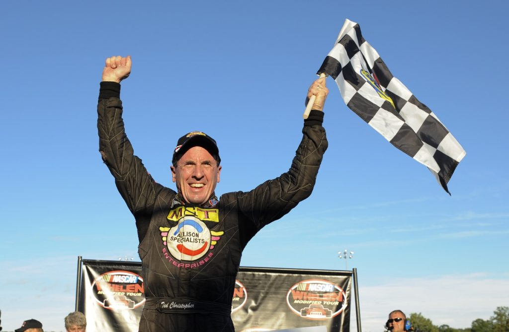 Ted Christopher wins.  UNOH Showdown.  Whelan Modified NASCAR Tour at Thompson Speedway.  Photo Credit: Getty Images
