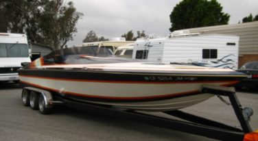 Today's Cool Classified Find is this 1987 Hallett 26' V Bottom