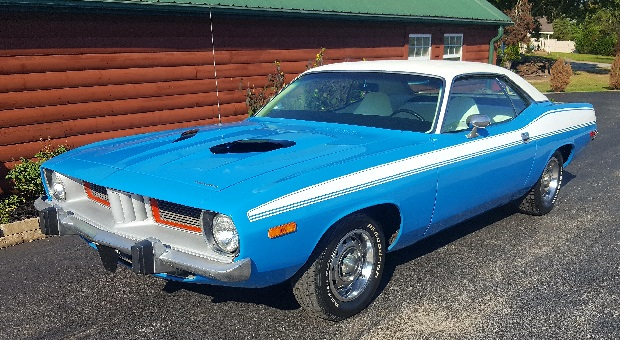 Today's Cool Car Find is this 1973 Plymouth Barracuda