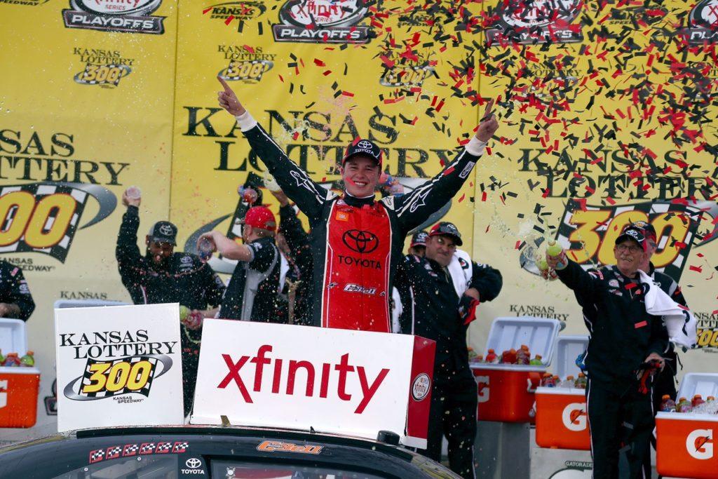 Bell, Truex Find NASCAR Wins at Kansas Motor Speedway