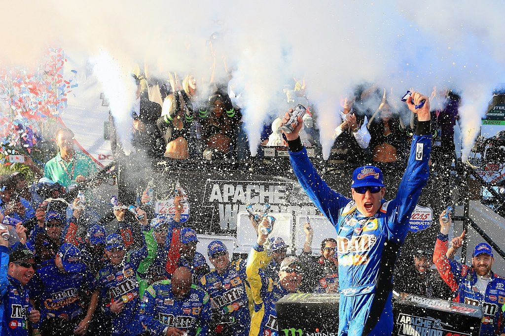 Busch, Blaney and Rhodes Earn NASCAR Playoff Victories