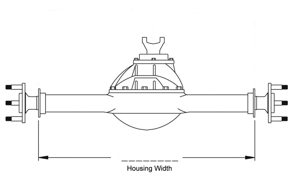 How to Figure Out the Axle Housing Width for Your Car