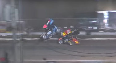 Sprint car, crash, Volusia