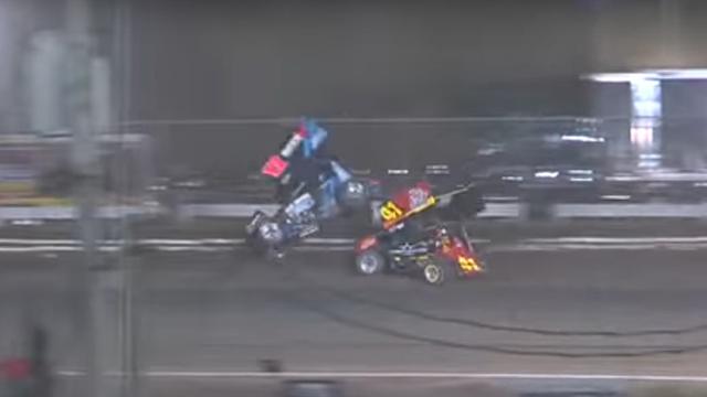 Sprint car, crash, Volusia