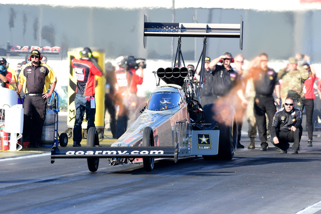 Mike Neff Settles in with US Army Dragster