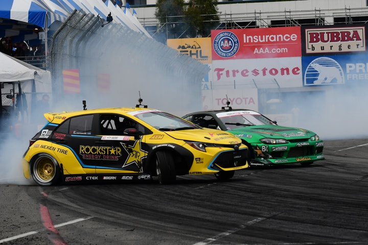 Aasbo Wins Formula Drift Opener at Long Beach